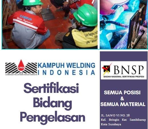 Program Sertifikasi Welder Kampuh Welding Indonesia